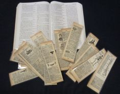 How to make vintage book page bookmarks – Recycled Crafts
