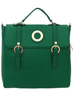 Green Convertible Backpack - Korean Fashionista