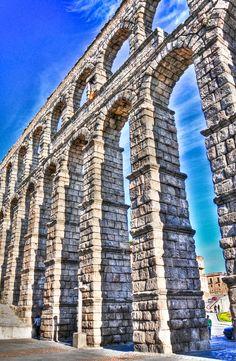 *SPAIN ~ Roman Aqueduct Bridge of Segovia,