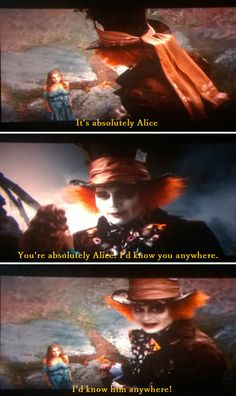 I'd know him anywhere .:Alice In Wonderland:.