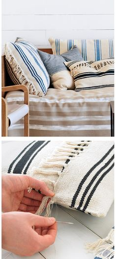 DIY ikea rug cushion
