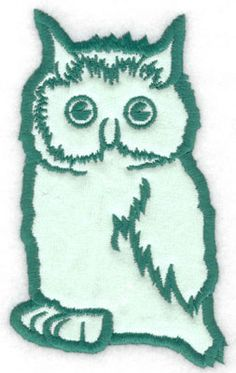 Owl applique | Applique Machine Embroidery Design or Pattern