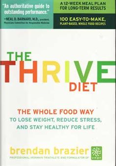 The Thrive Diet--Brendan Brazier is to be commended for assembling this vast amount of nutritional information to support his diet and health plan, all documented in his references. The Thrive Diet is more than a program to lose weight. It is a lifestyle change that has a pronounced affect on the body, turning it from acidic and disease-prone to alkaline and healthful. By focusing on this plan, readers may not become triathletes, but they will find increased energy and vitality.