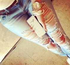 Ripped jeans on we heart it – Global fashion jeans models