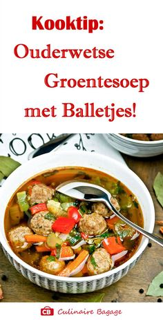 Dutch Recipes, Soup Recipes, Healthy Recipes, Meals For Two, Soups And Stews, Healthy Life, Food And Drink, Yummy Food, Lunch