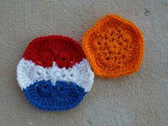 Netherlands inspired crochet hexagon and crochet pentagon for a crochet soccer ball, 2014 world cup, crochetbug