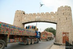 Pakistan Khyber Pass Gateway looking toward Peshawar