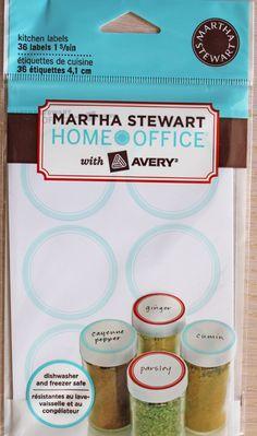 Martha Stewart Kitchen Labels new in package by OlliePinch on Etsy, $5.99