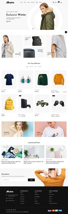Metro is undoubtedly the best minimal WooCommerce WordPress theme. We created this theme to give you a smooth user experience as you manage your online shop. Whether you are used to handling websites or not, Metro will take care of you so that you can create and manage your online shop straightforwardly. Since it is a minimalist theme, Metro will give you a classy and simple site rather than a flashy one that doesn't focus on what you're selling. With these and more features, Metro will make… Professional Wordpress Themes, Simple Site, Wordpress Plugins, User Experience, Minimalism, Smooth, Classy, Create, Shopping