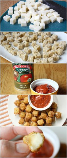 Mozzarella Cheeseballs. Definitely want to try these with pepper jack cheese!