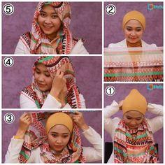 Tutorial Hijab Paris Simple Sehari-Hari/Hijab Tutorial Square Scraft ...