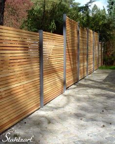 - garden wood privacy fence wood larch metal secret 1 – high quality carports on …, - Diy Fence, Backyard Fences, Outdoor Landscaping, Outdoor Decor, Fence Ideas, Back Gardens, Small Gardens, Outdoor Gardens, Balcony Plants