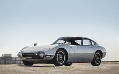 Download wallpapers Toyota 2000GT, 1968, retro sports coupe, silver classic car, Silver 2000GT, Toyota