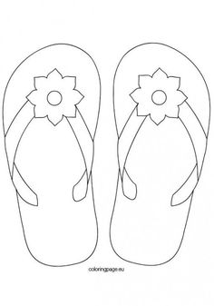 - think I'll digitize this as an applique. applique the… flower-flip-flops Summer Coloring Pages, Colouring Pages, Coloring Sheets, Coloring Books, Printable Coloring Pages, Applique Quilt Patterns, Applique Designs, Embroidery Patterns, Stained Glass Patterns
