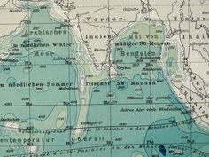 1897 Antique map of the INDIAN OCEAN. 116 by AntiquePrintsOnly, $16.50