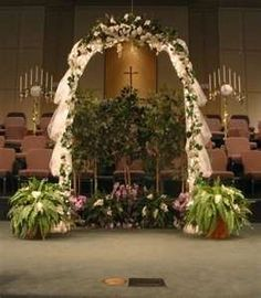 Decorated arches for a wedding indoor or outdoor wedding ceremony free flower decorating tutorials httpwedding flowers and junglespirit Image collections
