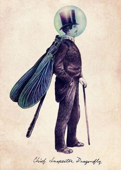 Inspector Dragonfly Art Print