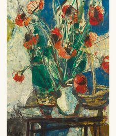 lilithsplace:  'Poppies' - Sigmund Menkes (1896–1986)