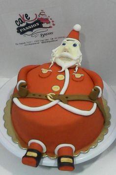 Santa Klaus cake - Torta a forma di Babbo Natale