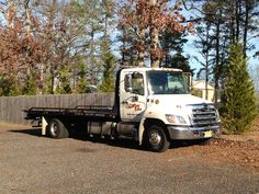 Flat bed tow truck. Wrecker, rollback, hino, my old tow truck, tri state towing and guenthers towing