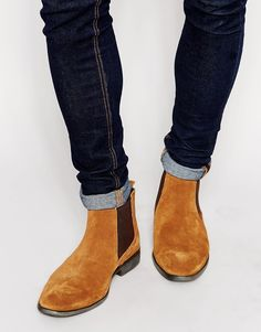 Image 1 ofBase London Suede Chelsea Boots