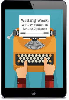 "Learn to how to write faster and better during this 7-day challenge and how to personalize each step to what works best for YOU. Download  your Writing Week Journal (excel, PDF or .doc), 30-day writing challenge calendar, affirmations, and more! Overcome the barriers that have been keeping you from making progress in your nonfiction writing."">  <meta property="