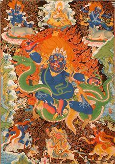 "36/"" Tibet Tibetan Cloth Silk Goddess Green Tara Tangka Thangka Painting Mural #4"