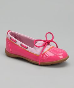 Take a look at this Jumping Jacks Pink Raindrop Duck Shoe on zulily today!