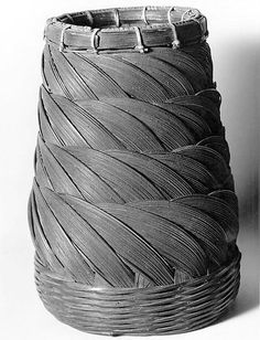 Basket    Date:      19th century  Culture:      Japan  Medium:      Bamboo  Dimensions:      H. 10 in. (25.4 cm)  Classification:      Basketry  Credit Line:      Edward C. Moore Collection, Bequest of Edward C. Moore, 1891