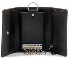 Porsche Design Schlüsseletui mit Haken schwarz - Bags & more Porsche Design, Wallet, Black, Pocket Wallet, Handmade Purses, Diy Wallet, Purses