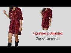 DIY Cómo hacer vestido camisero - YouTube