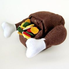 Felt Food Turkey with Stuffing Play Set
