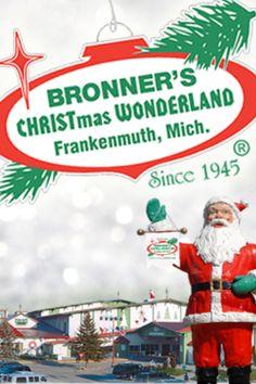 Bronner's Christmas Wonderland in Michigan. It's the world's LARGEST Christmas store! Bronners Christmas Ornaments, Bronners Christmas Store, Christmas Town, Christmas Lights, Christmas Decorations, Christmas Trees, Christmas Stockings, State Of Michigan, Michigan Travel