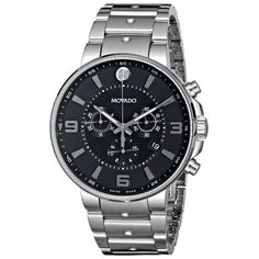 Looking for Movado Men's 0606759 SE. Check out our picks for the Movado Men's 0606759 SE. Pilot Stainless Steel Watch from the popular stores - all in one. Movado Mens Watches, Pilot, Silver Pocket Watch, Black Quartz, Black Gold, Vintage Watches For Men, Beautiful Watches, Amazing Watches, Cool Watches