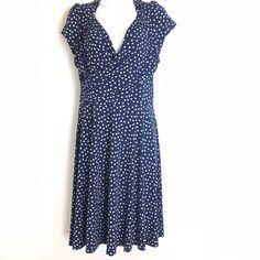 4cd031ecf2 leota new york polka dot High Modern Short Sleeve Sheath dress Size L   Leota  SheathDress  PartyCocktail