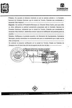 Crónica de Torreón: El respeto al mérito ajeno, es la paz