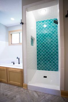 Brilliant Bathroom Tiles Moroccan Blue Fish Scale Tile And Ideas