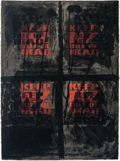 Ralph Hotere - Keep NZ Out Of Iraq - 2003 - Lithograph
