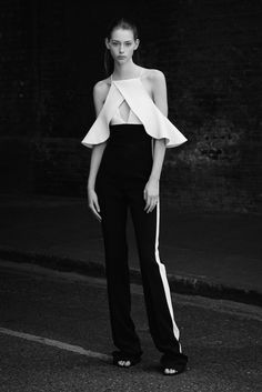 *.* David Koma Resort 2016 - Collection - Gallery - Style.com -black & white