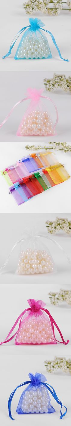7x9cm Organza Jewelry Popular Gift Bags Cheap Wedding Gift Bag Tulle Favor Sack Customized Logo Printed 100pcs/lot Wholesale