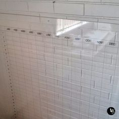 Frameless Acrylic Whiteboard, Clear Perspex Whiteboard, Perpetual Calendar, Monthly Schedule