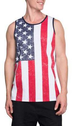 6c4384f072032 Americana - Men s American Flag Graphic Tank - Walmart.com. Graphic TankBig  MenMemorial DayAmerican Flag4th Of JulyRandom ...