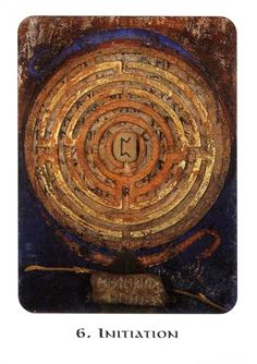 6. Initiation (Perthro) - Rune Cards by Ralph Blum Illustrated by Jane Walmsley