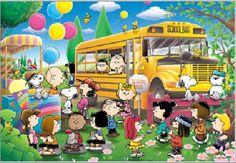 AP-3-817 Peanuts Snoopy Apollo-sha Japan Jigsaw Puzzles School Bus