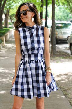 plaid gingham dress | sequinsandthings.com