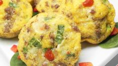 Make a batch of these sausage and scallion egg muffins for a week of on-the-go breakfasts or an easy lunch or dinner with a side salad. Avocado Dip, Egg Muffins, Mini Foods, Side Salad, Green Onions, Perfect Food, Muffin Recipes, Paleo Diet, Food Processor Recipes