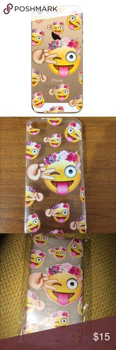 Fun Flower Crown Emoji Iphone Case Available for iphone 5/5s/6/6s/6plus. Please comment the size you will need and I will create you a separate  listing.✨ . Accessories Phone Cases