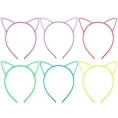Candygirl Girl's Plastic Headbands Tiara Bunny Cat Bow Hairbands (GLOW IN DARK) by Candygirl. plastic headbands in bright colors, after put in the SUNLIGHT several minutes they are all glow, more time in sunlight glow more bright. 6 color assortment as shown in picture WITH GLOW IN DARK. comb teeth at headbands to better secure hair. perfect for girl's parties. Best choice for Gift.