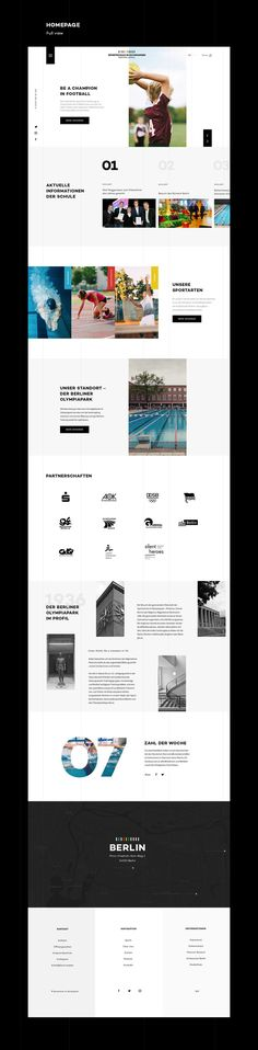 A fun project and non-official redesign of the school website, based on the corporate design, I made for the school.: A fun project and non-official redesign of the school website, based on the corporate design, I made for the school. Design Web, Layout Design, Layout Web, Web Design Trends, Website Layout, Page Design, Flat Design, Grid Website, Sketch Design