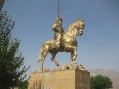 """Statue of Mir Muhammad Pasha who was also called """"Pashai Gawra"""" (Great Pasha) in the Town Rawandiz, South of Kurdistan. He was the ruler of the Soran Emirate and is catapulted into Kurdish folklore due to his reputation of standing against the Ottoman Empire."""
